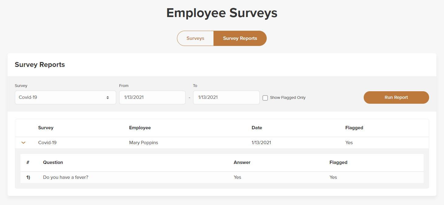 Survey feedback report