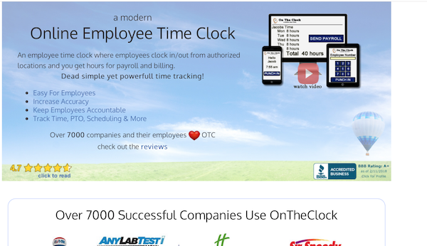 On The Clock Time Tracking