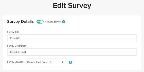 Employee survey details