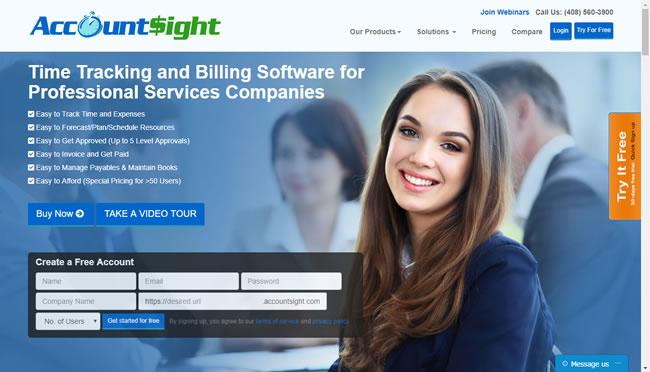 AccountSight time tracking