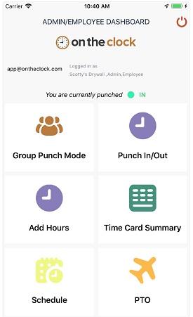Employee Time Clock Dashboard
