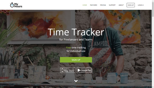 MyHours time tracking