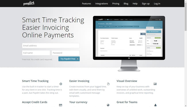 paydirt time tracking
